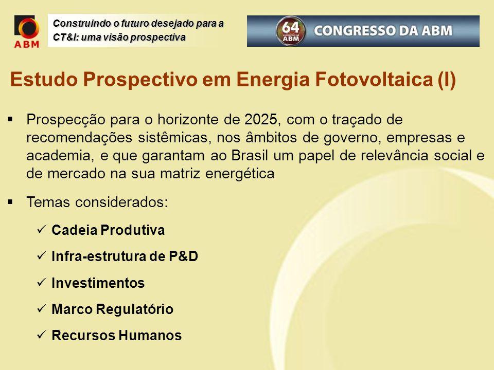 Estudo Prospectivo em Energia Fotovoltaica (I)