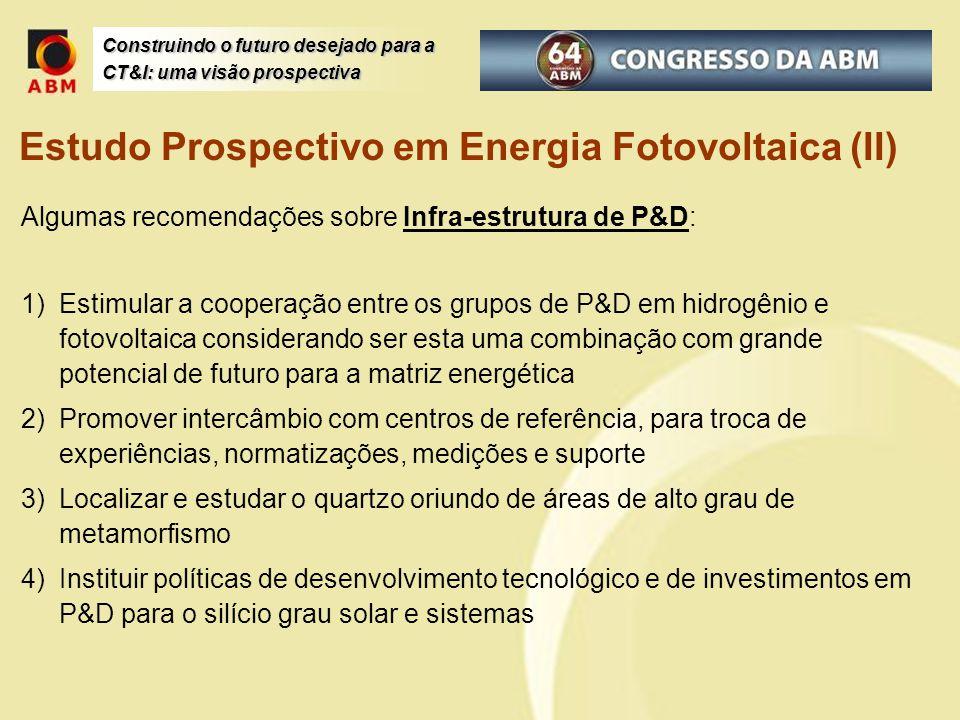 Estudo Prospectivo em Energia Fotovoltaica (II)