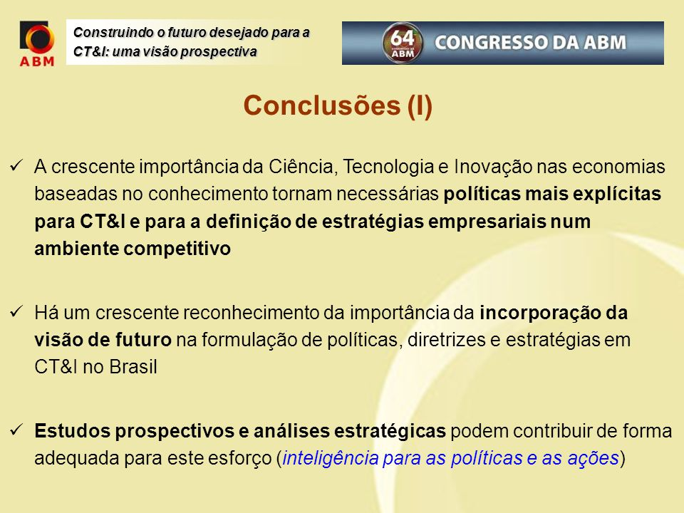 Conclusões (I)