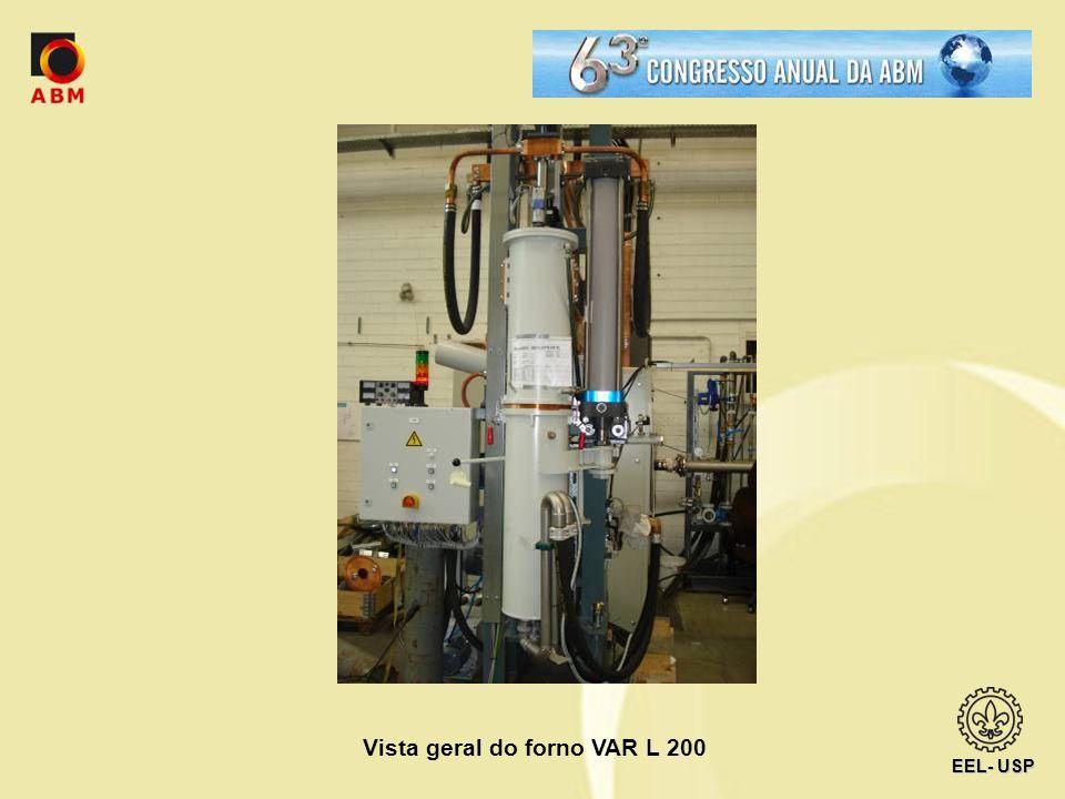 Vista geral do forno VAR L 200