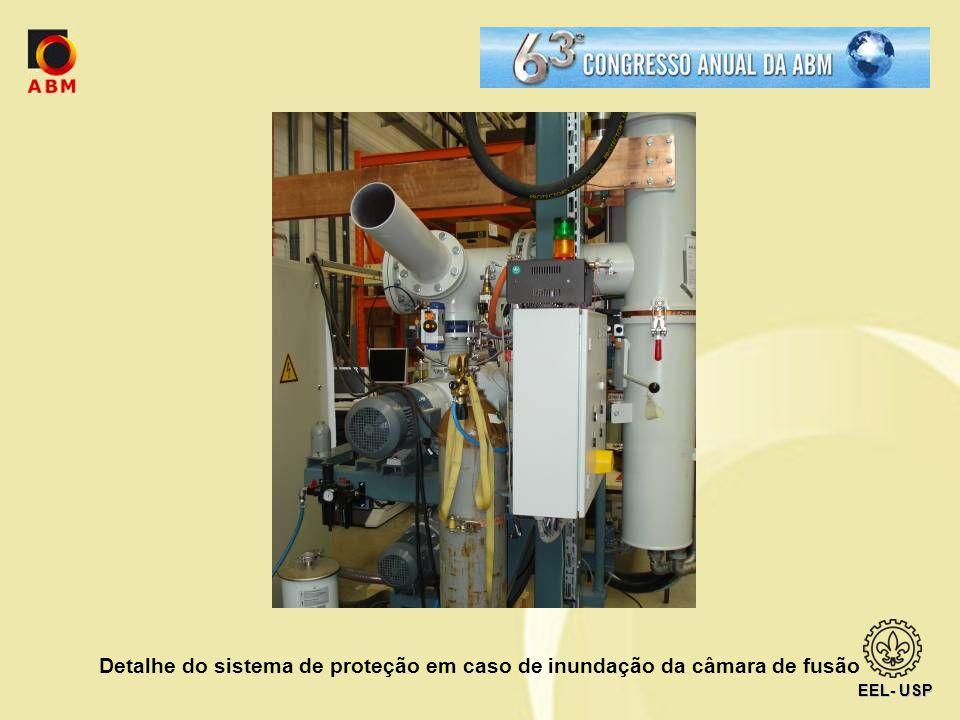 Detalhe do sistema de proteção em caso de inundação da câmara de fusão