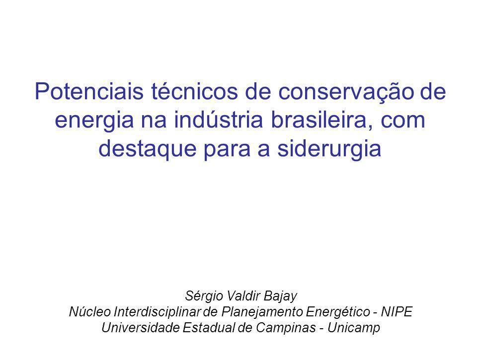 Potenciais técnicos de conservação de energia na indústria brasileira, com destaque para a siderurgia