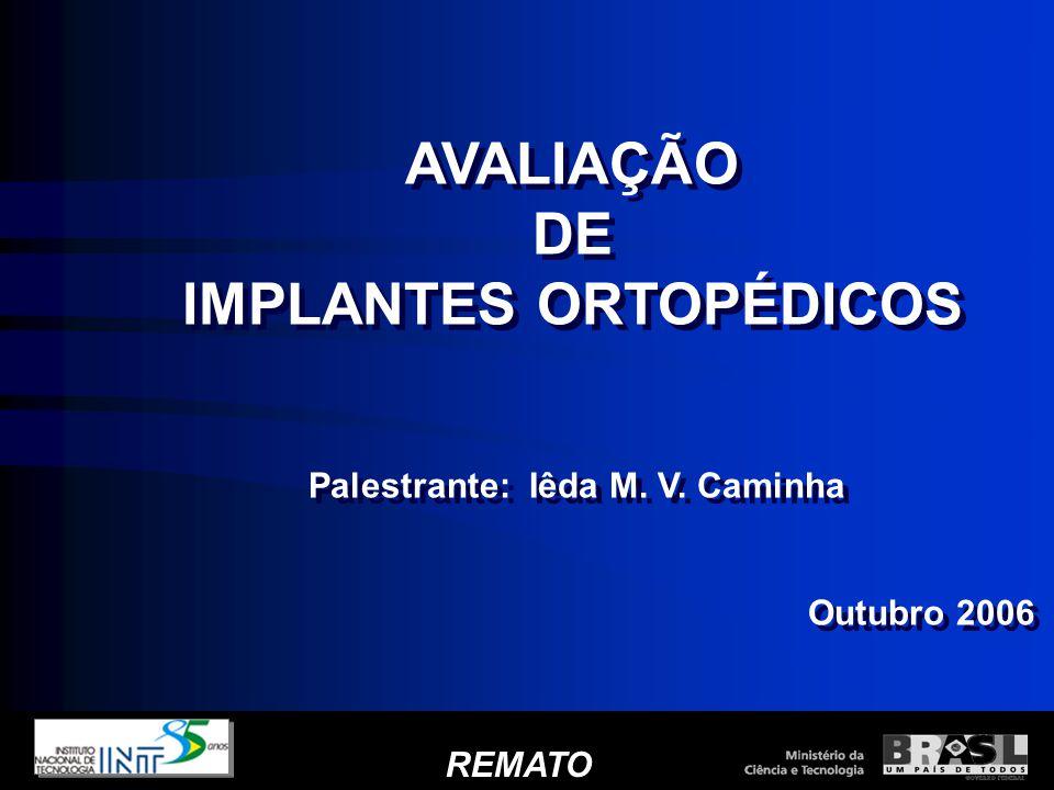 IMPLANTES ORTOPÉDICOS Palestrante: Iêda M. V. Caminha