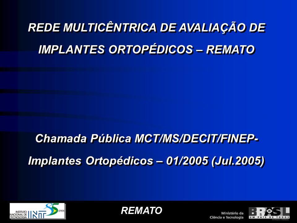 REDE MULTICÊNTRICA DE AVALIAÇÃO DE IMPLANTES ORTOPÉDICOS – REMATO