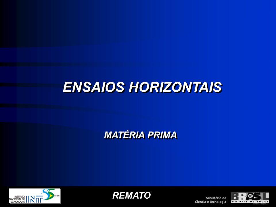 ENSAIOS HORIZONTAIS MATÉRIA PRIMA REMATO