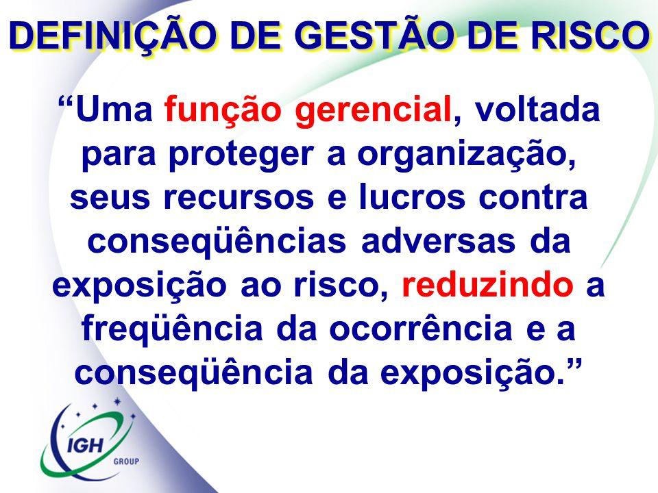 DEFINIÇÃO DE GESTÃO DE RISCO