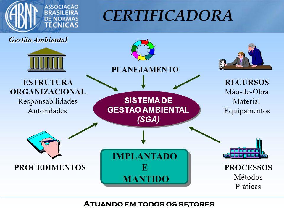 IMPLANTADO E MANTIDO Gestão Ambiental SISTEMA DE GESTÃO AMBIENTAL