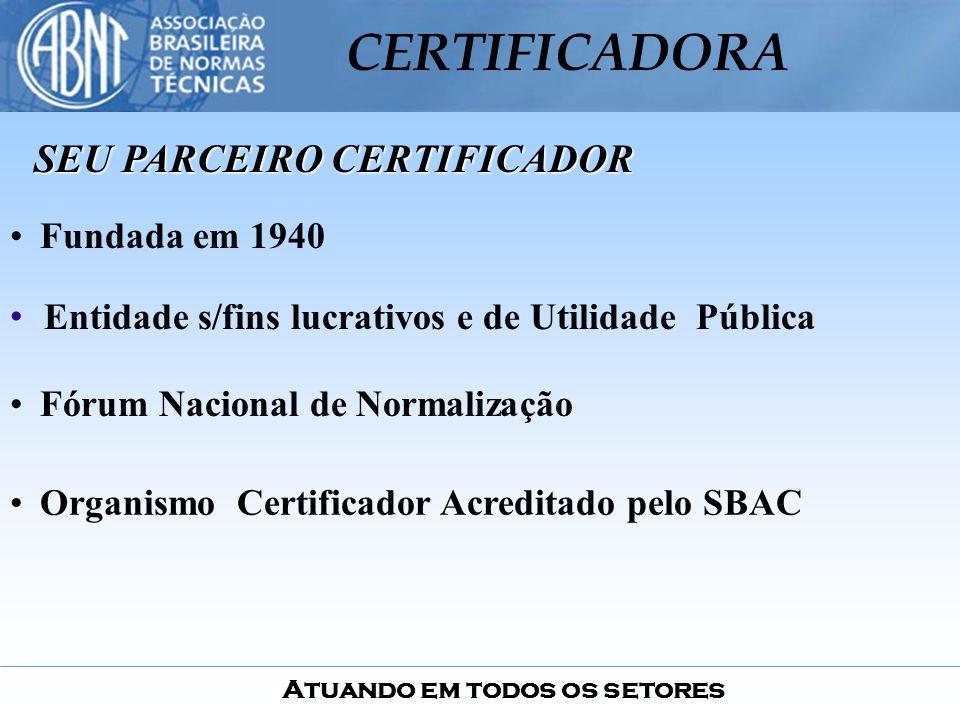 SEU PARCEIRO CERTIFICADOR