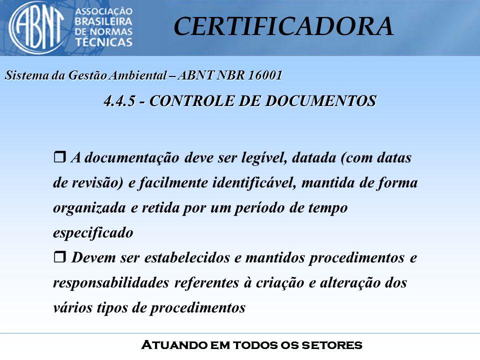 4.4.5 - CONTROLE DE DOCUMENTOS