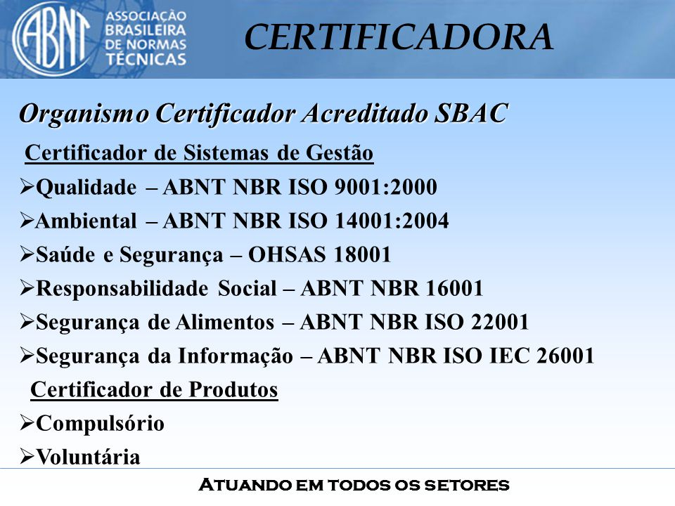 Organismo Certificador Acreditado SBAC