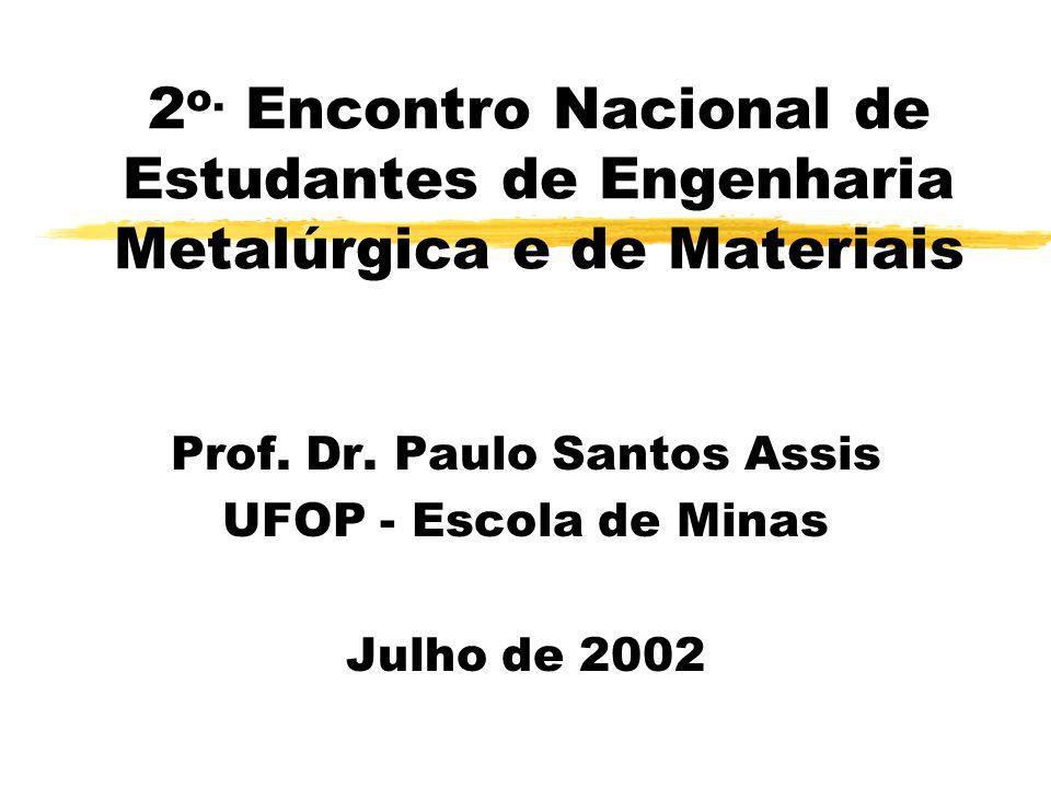 Prof. Dr. Paulo Santos Assis UFOP - Escola de Minas Julho de 2002