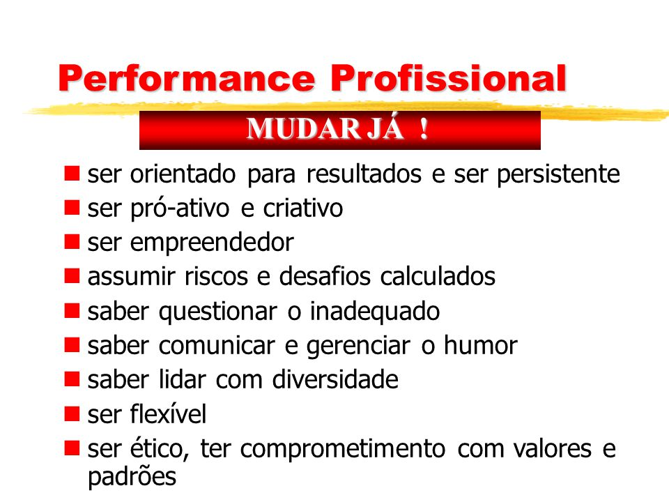 Performance Profissional