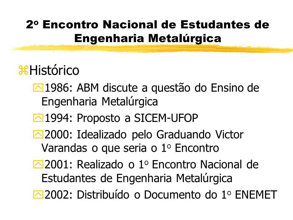 2o Encontro Nacional de Estudantes de Engenharia Metalúrgica