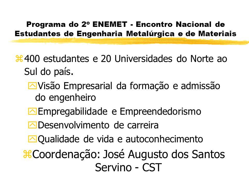 Coordenação: José Augusto dos Santos Servino - CST