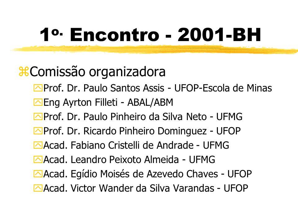 1o. Encontro - 2001-BH Comissão organizadora