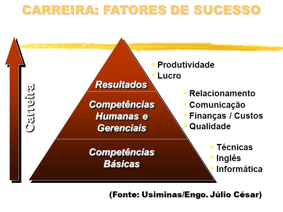 CARREIRA: FATORES DE SUCESSO