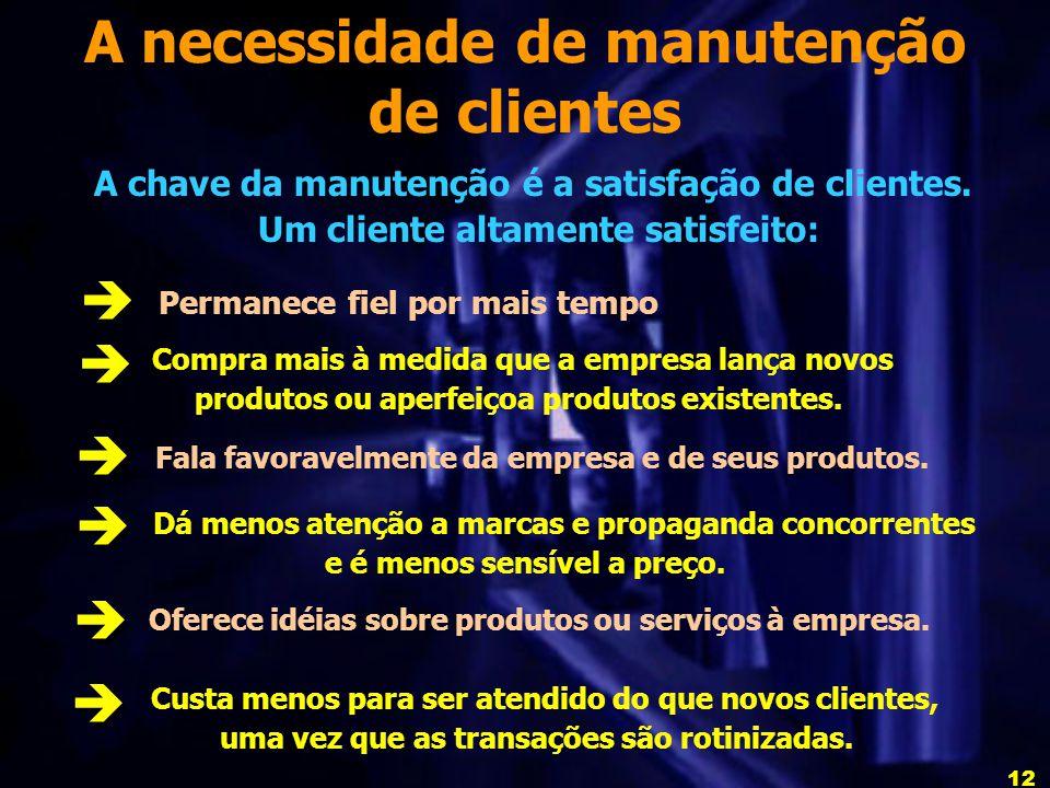 A necessidade de manutenção de clientes