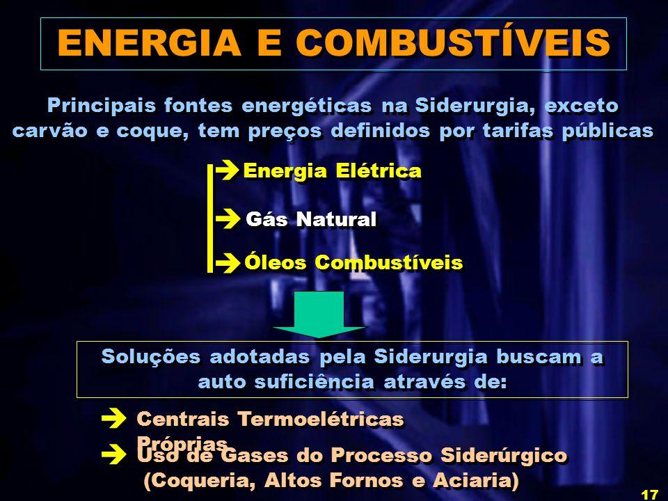 ENERGIA E COMBUSTÍVEIS