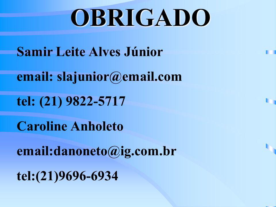 OBRIGADO Samir Leite Alves Júnior