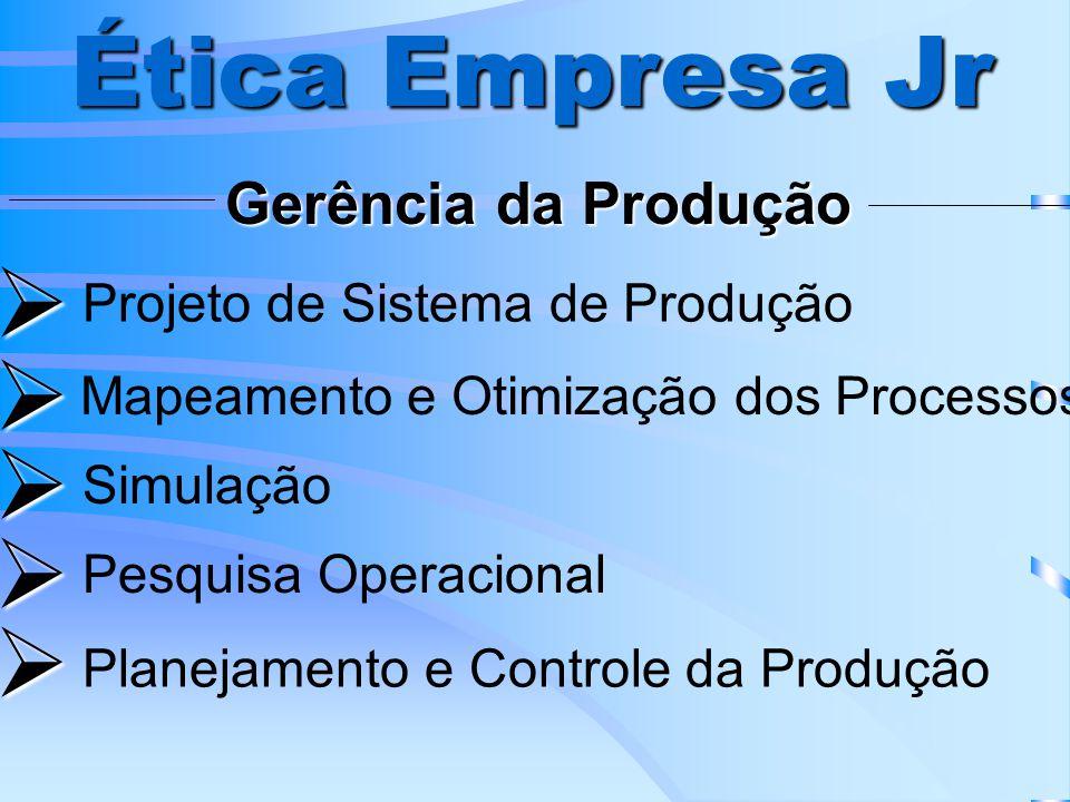 Ética Empresa Jr      Gerência da Produção