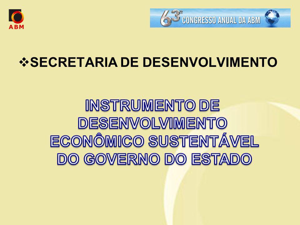 INSTRUMENTO DE DESENVOLVIMENTO ECONÔMICO SUSTENTÁVEL