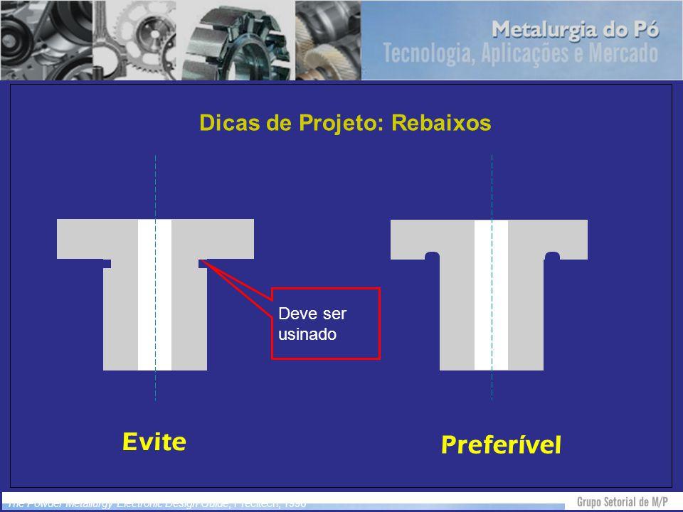 Dicas de Projeto: Rebaixos