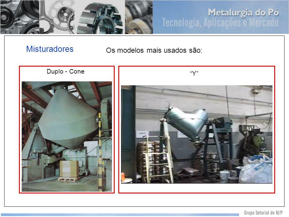 Misturadores Duplo - Cone Y Os modelos mais usados são: