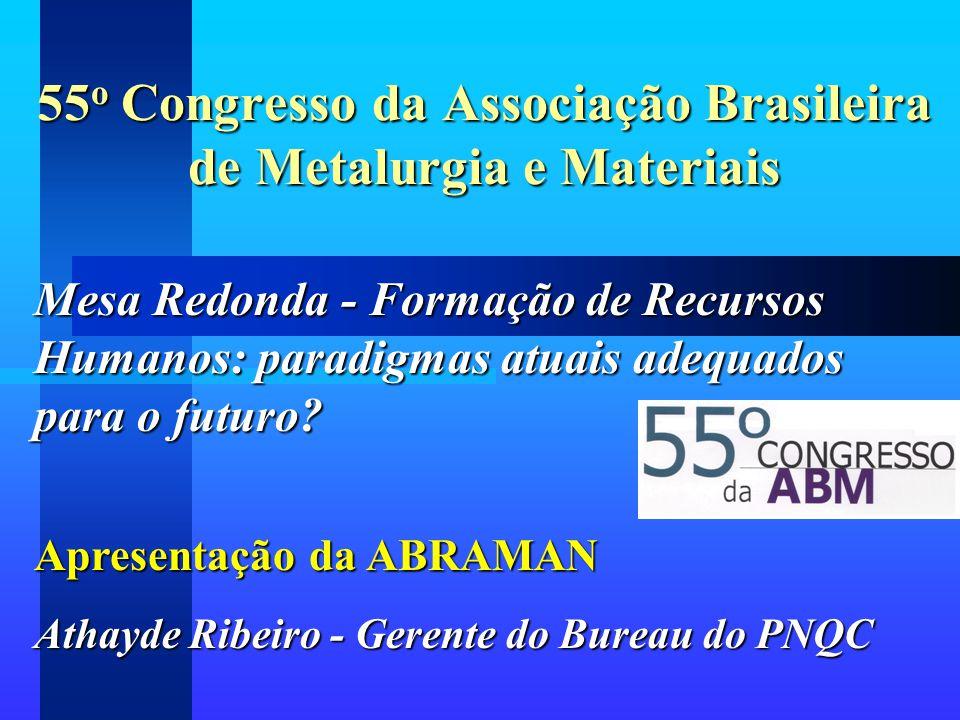 55o Congresso da Associação Brasileira de Metalurgia e Materiais