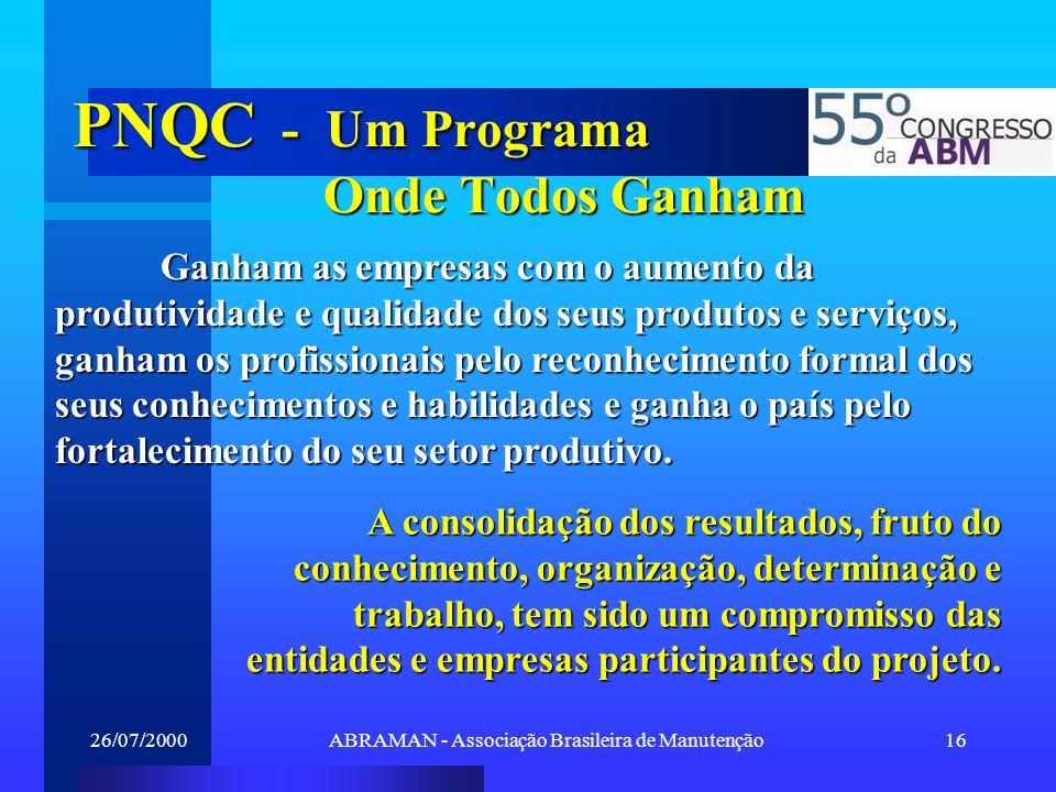 PNQC - Um Programa Onde Todos Ganham
