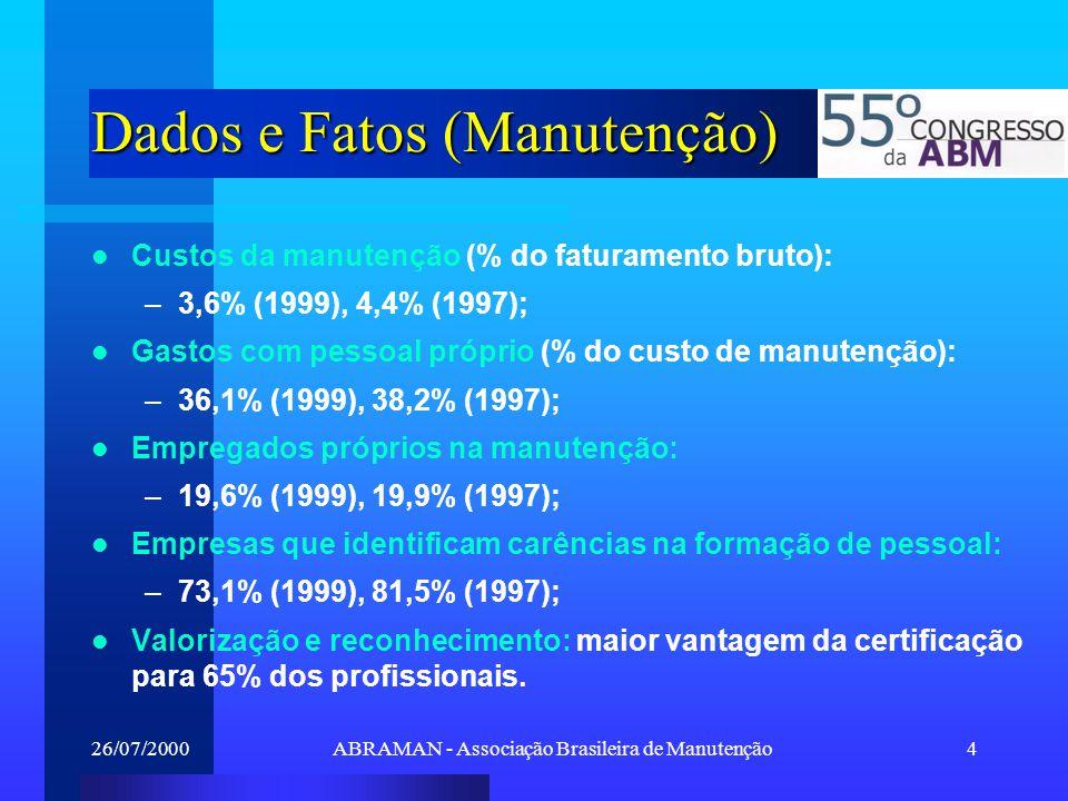 Dados e Fatos (Manutenção)