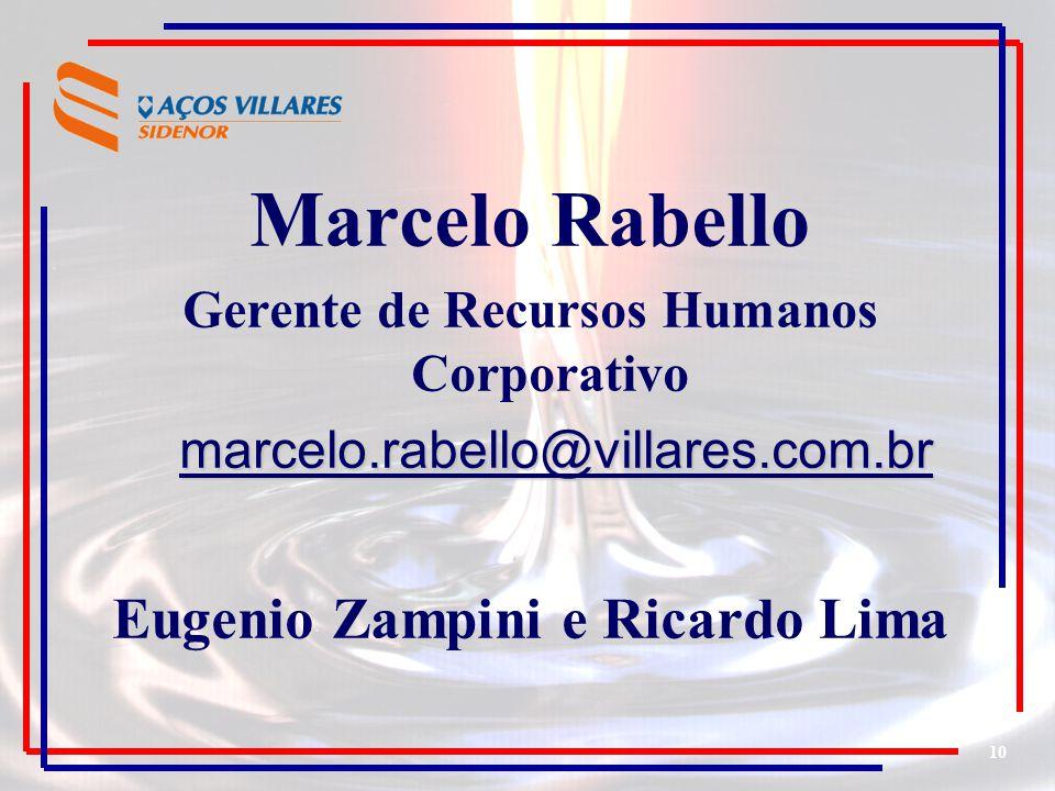 Gerente de Recursos Humanos Corporativo Eugenio Zampini e Ricardo Lima