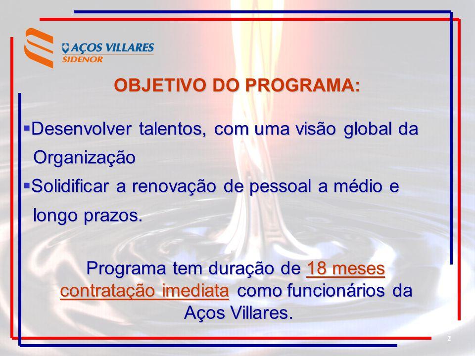 Desenvolver talentos, com uma visão global da Organização