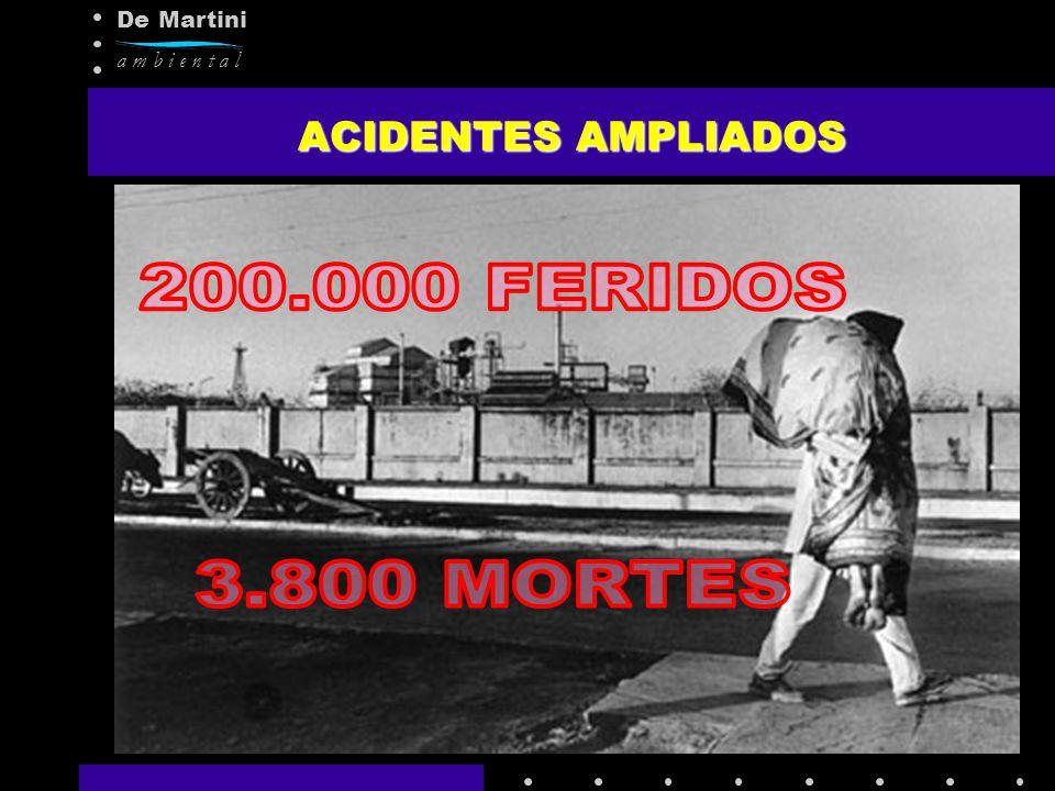 ACIDENTES AMPLIADOS 200.000 FERIDOS 3.800 MORTES
