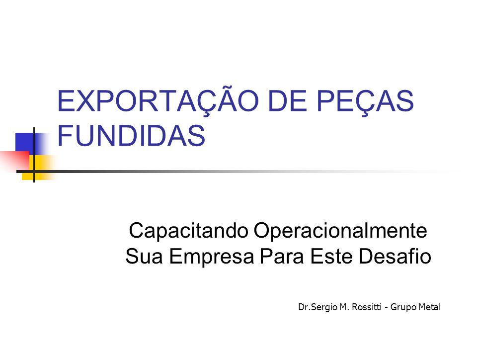 EXPORTAÇÃO DE PEÇAS FUNDIDAS