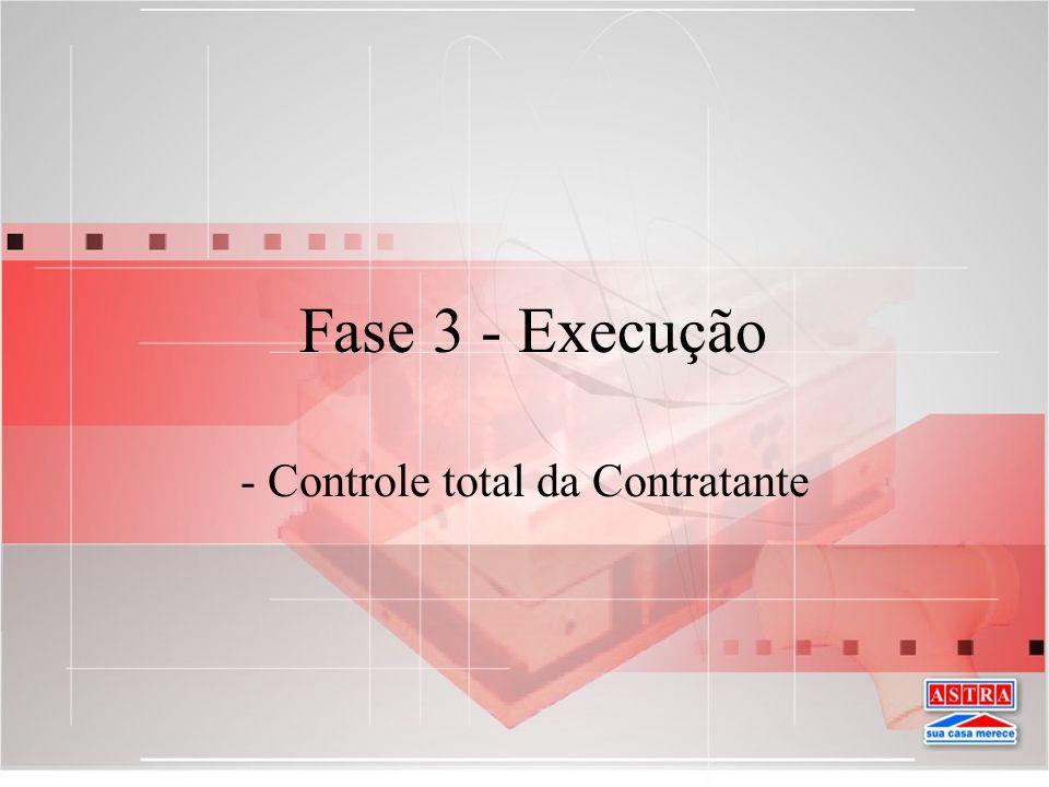 - Controle total da Contratante
