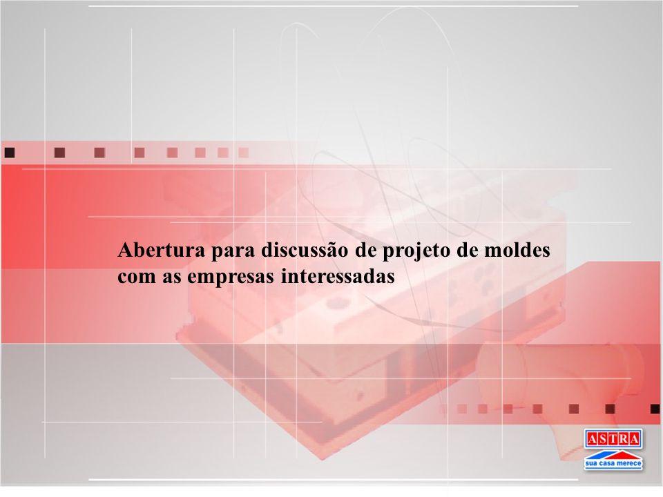 Abertura para discussão de projeto de moldes com as empresas interessadas