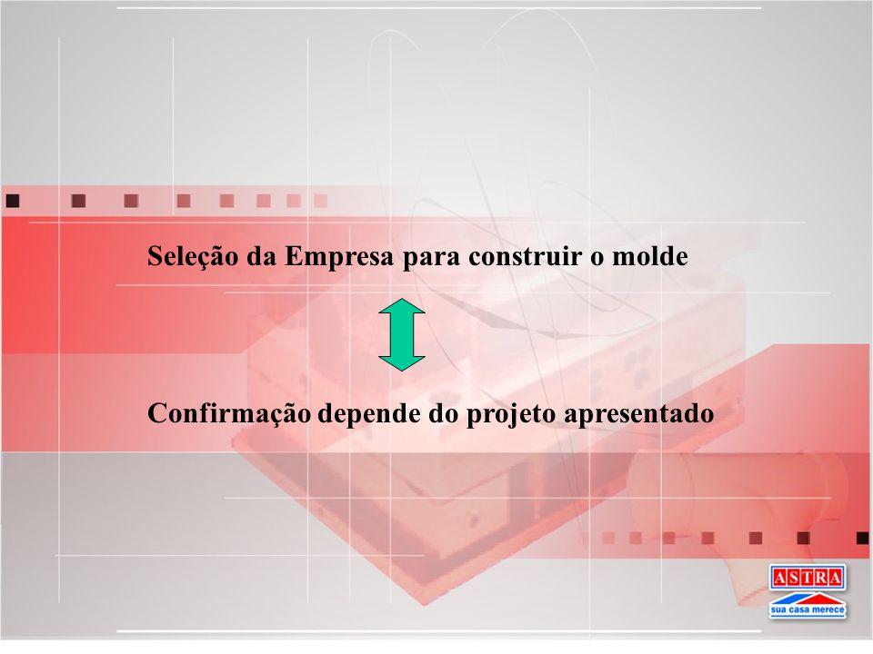 Seleção da Empresa para construir o molde