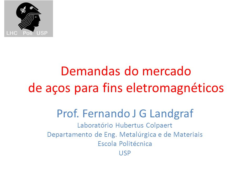 Demandas do mercado de aços para fins eletromagnéticos