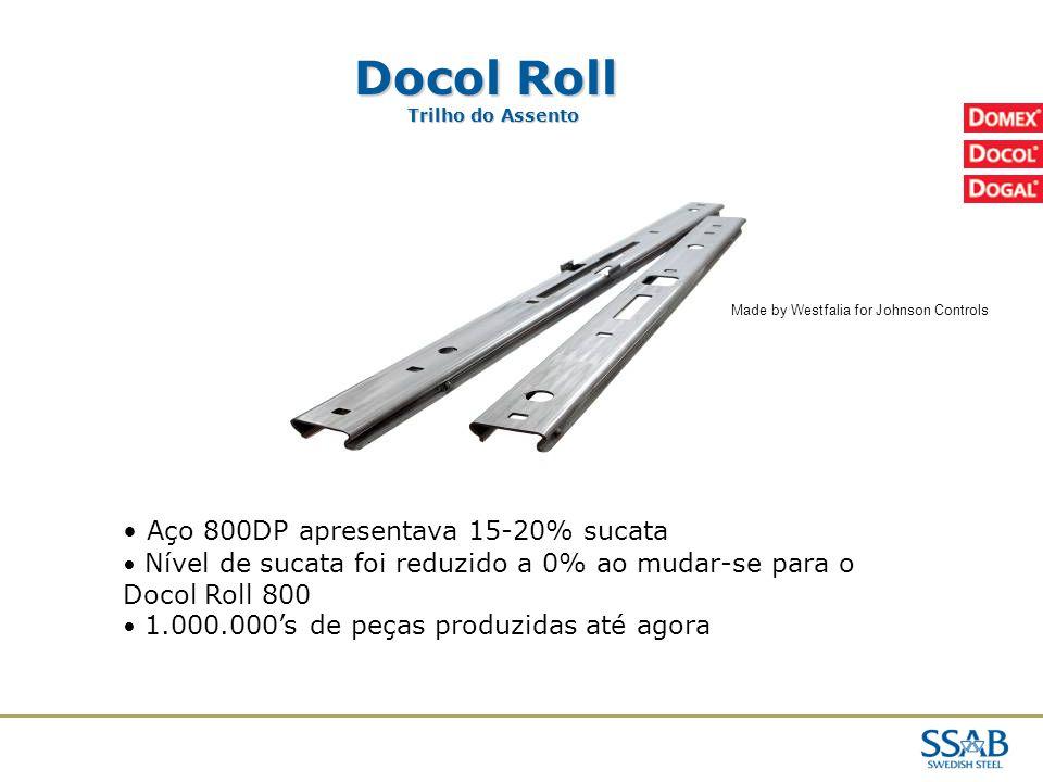 Docol Roll Aço 800DP apresentava 15-20% sucata