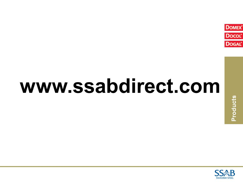 02/04/2017 www.ssabdirect.com Products