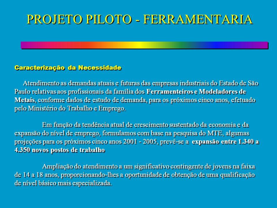 PROJETO PILOTO - FERRAMENTARIA