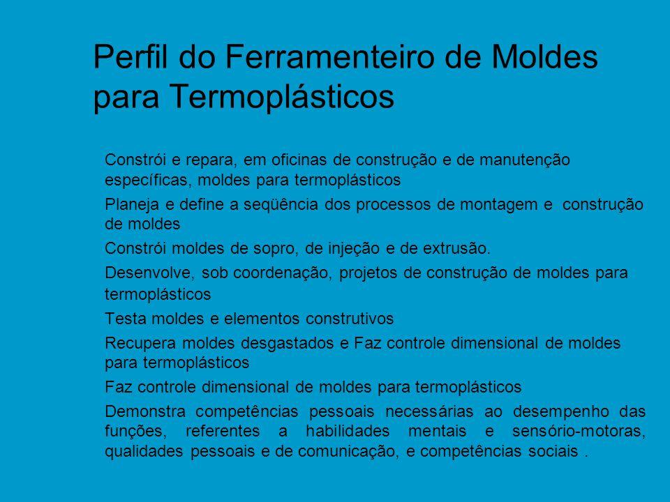 Perfil do Ferramenteiro de Moldes para Termoplásticos