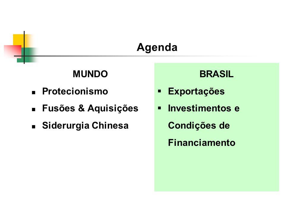 Agenda MUNDO Protecionismo Fusões & Aquisições Siderurgia Chinesa