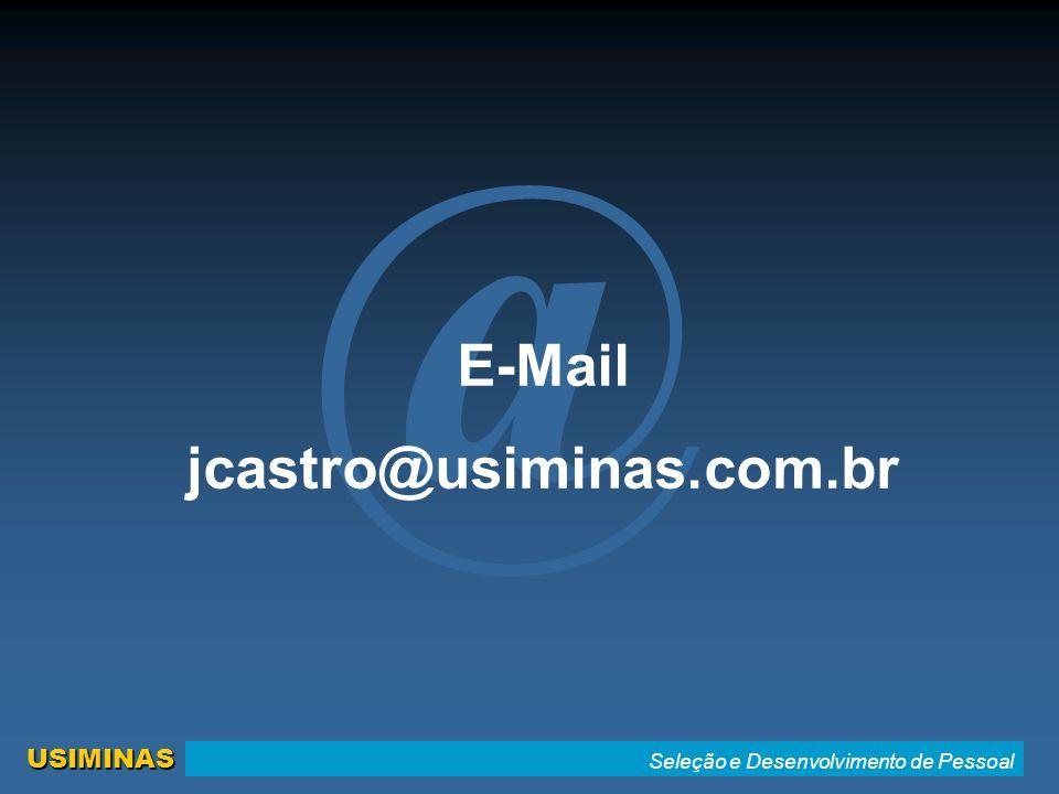 @ E-Mail jcastro@usiminas.com.br