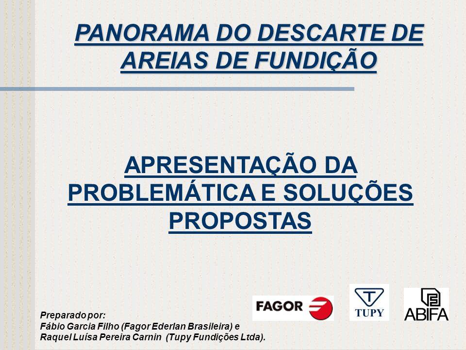 PANORAMA DO DESCARTE DE AREIAS DE FUNDIÇÃO