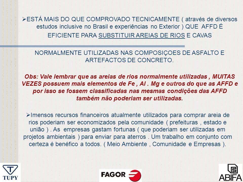 EFICIENTE PARA SUBSTITUIR AREIAS DE RIOS E CAVAS