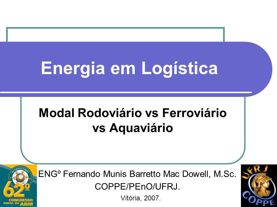 Modal Rodoviário vs Ferroviário vs Aquaviário