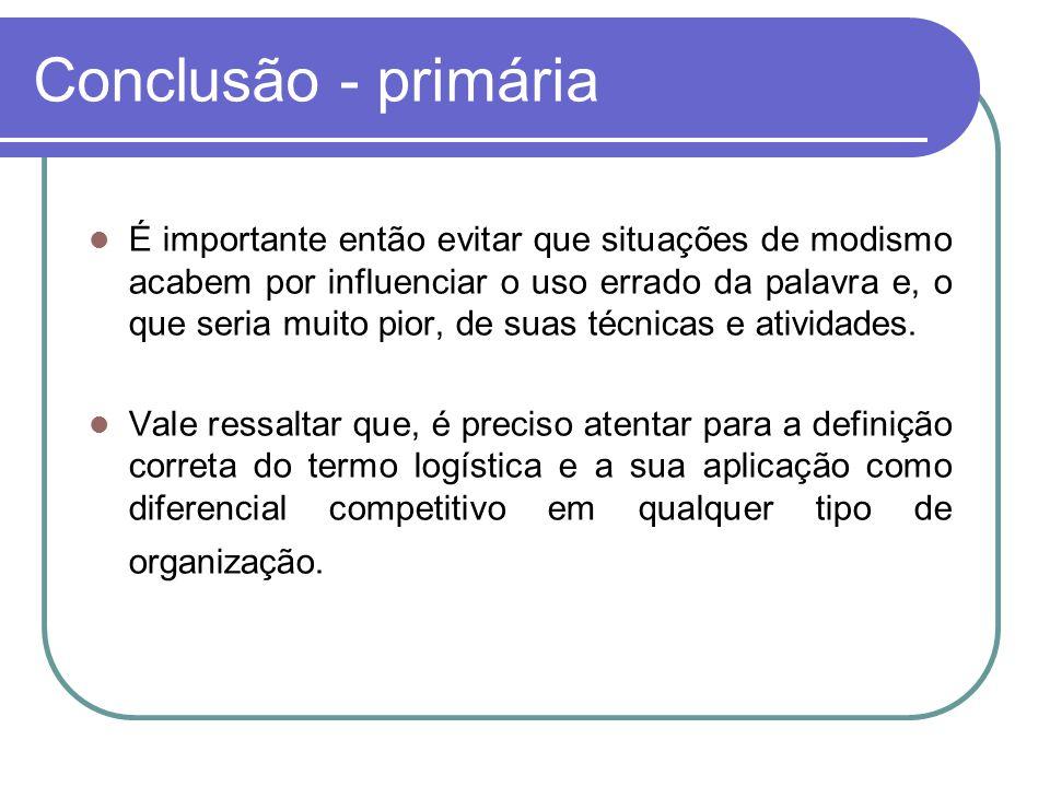 Conclusão - primária