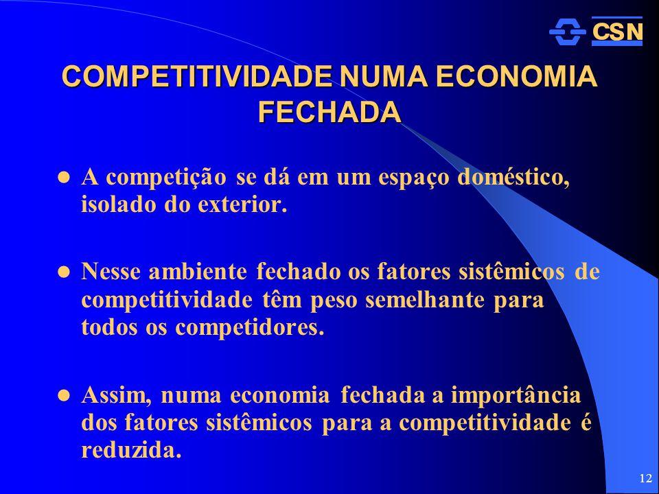 COMPETITIVIDADE NUMA ECONOMIA FECHADA