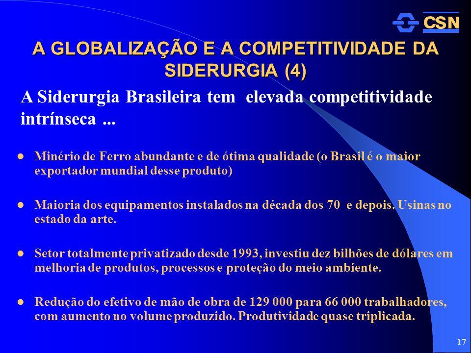 A GLOBALIZAÇÃO E A COMPETITIVIDADE DA SIDERURGIA (4)